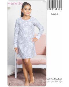 Туніка з довгим рукавом для дівчинки, байка VIENETTA KIDS 802045-0353