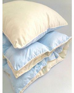 Комплект ковдра 105x145 і подушка 40x60 блакітний