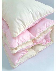 Комплект ковдра 105x145 і подушка 40x60 рожевий